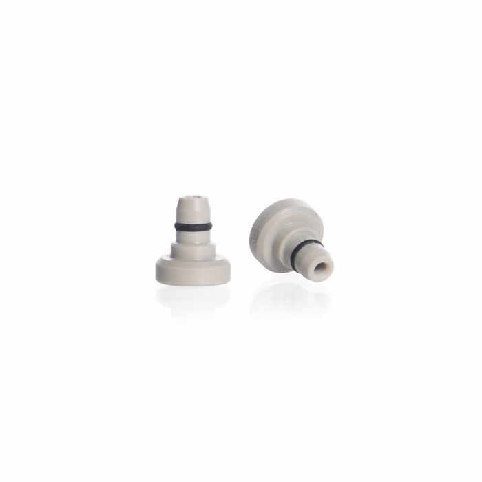 DURAN® Connector (5.8 mm), for syringe filter (without filter), for GL 45 screw cap, with 2-hose connector