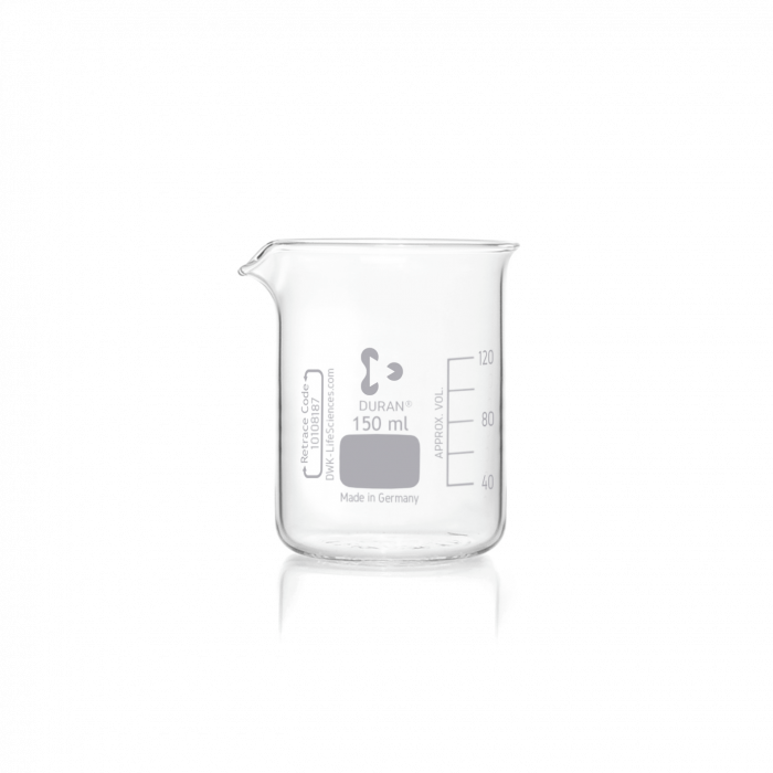DURAN® Beaker, low form, with spout, 150 mL