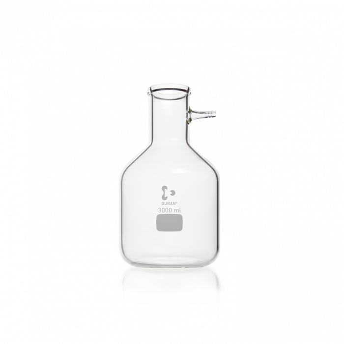 DURAN® Filtering Flask with glass hose connection, Bottle shape, 3000 mL
