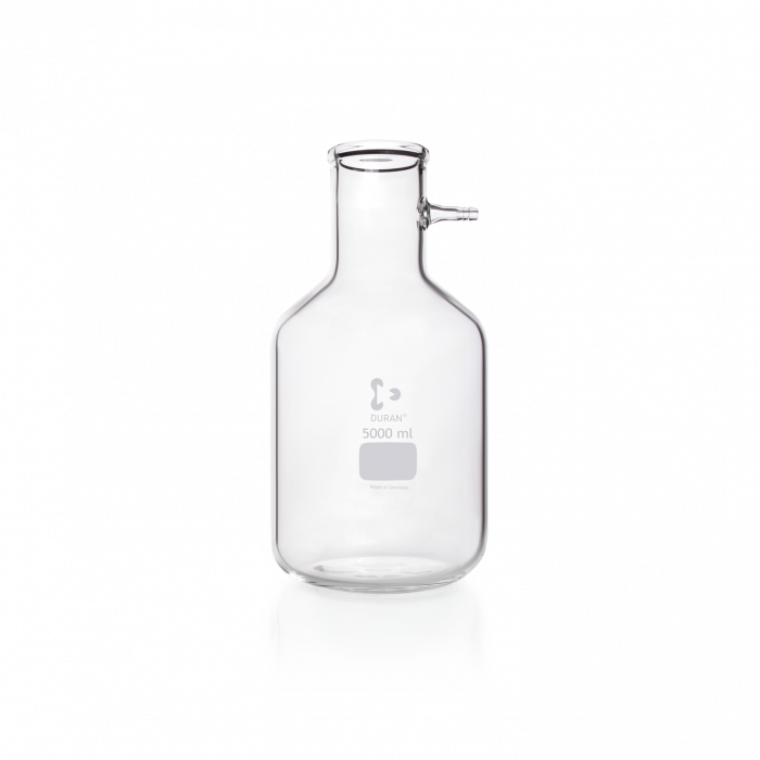 DURAN® Filtering Flask with glass hose connection, Bottle shape, 5000 mL