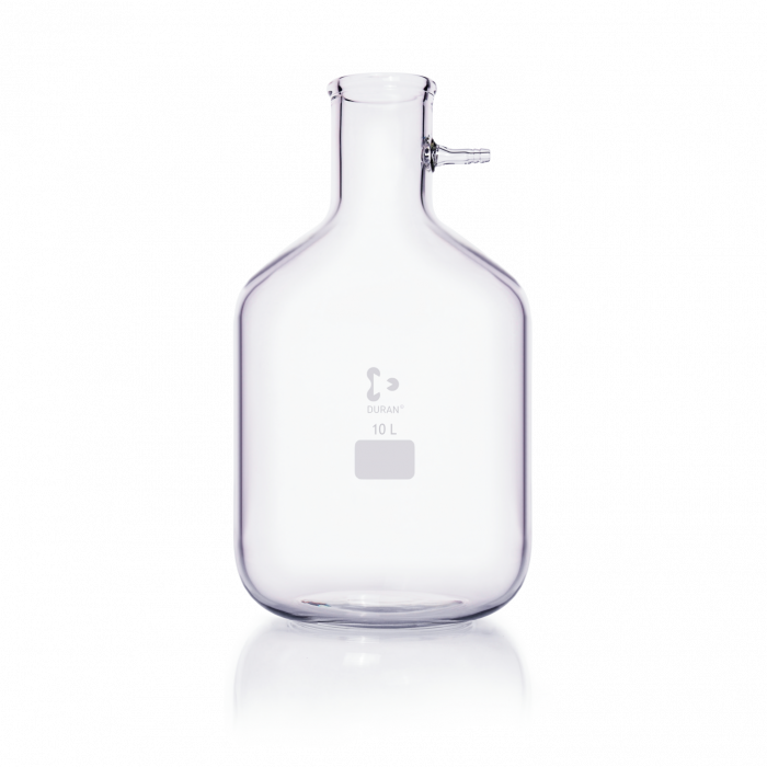 DURAN® Filtering Flask with glass hose connection, Bottle shape, 10000 mL
