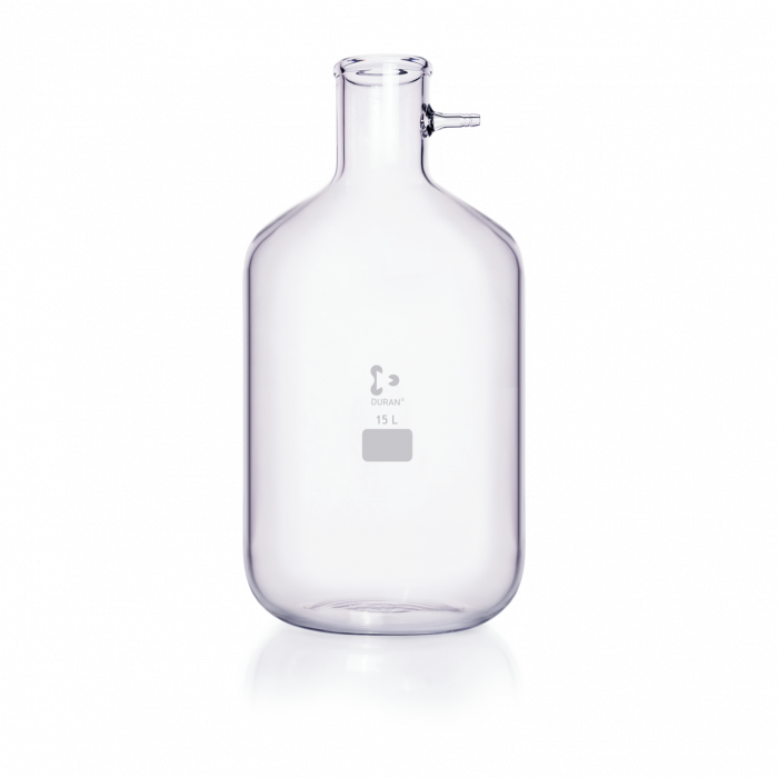 DURAN® Filtering Flask with glass hose connection, Bottle shape, 15000 mL
