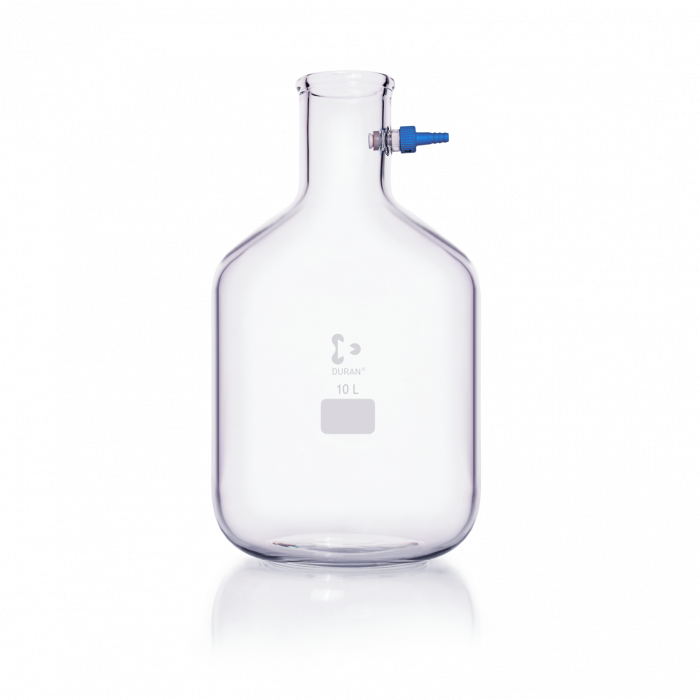 DURAN® Filtering Flask with KECK™ Assembly Set, Bottle shape, 10000 mL