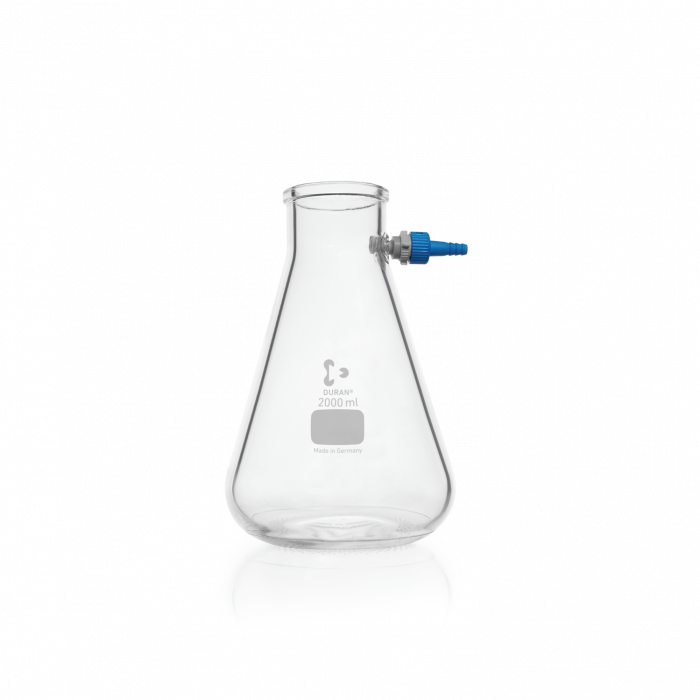 DURAN® Filtering Flask with KECK™ Assembly Set, Erlenmeyer shape, 2000 mL