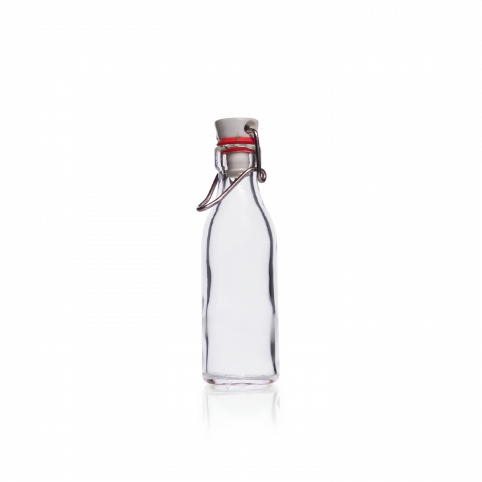 DURAN® Rolled Flange Bottle, with clamp closure, 100 mL