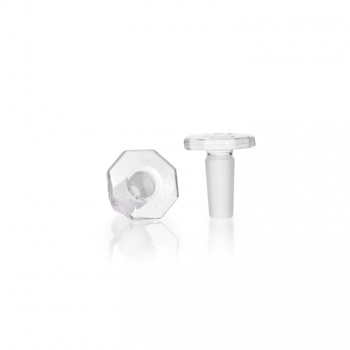 DURAN® Glass Stopper, clear, solid, ST 10/19