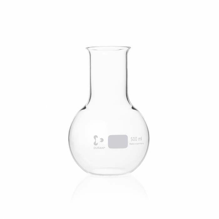 DURAN® Flat Bottom Flask, wide neck, with beaded rim, 500 mL