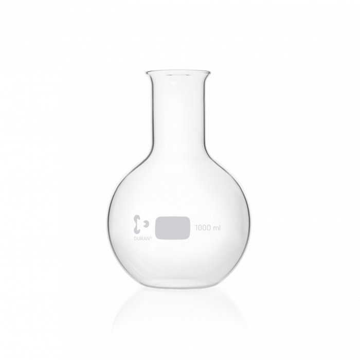 DURAN® Flat Bottom Flask, wide neck, with beaded rim, 1000 mL