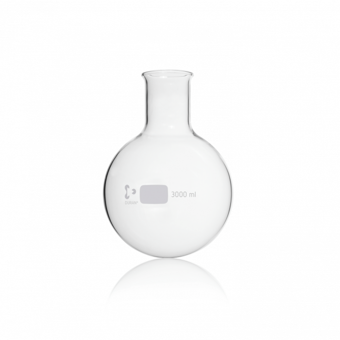DURAN® Round Bottom Flask, wide neck, with beaded rim, non-DIN EN ISO size, 3000 mL