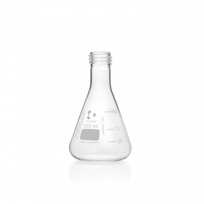 DURAN® Erlenmeyer Flask, with DIN thread, without cap, 100 mL