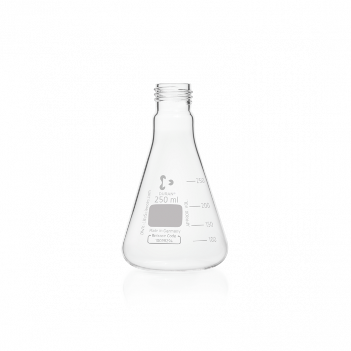 DURAN® Erlenmeyer Flask, with DIN thread, without cap, 250 mL