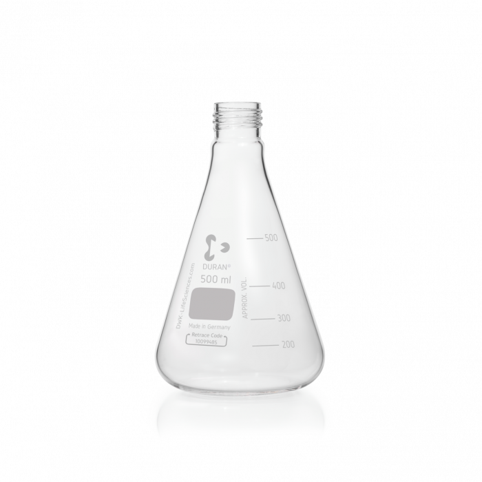 DURAN® Erlenmeyer Flask, with DIN thread, without cap, 500 mL