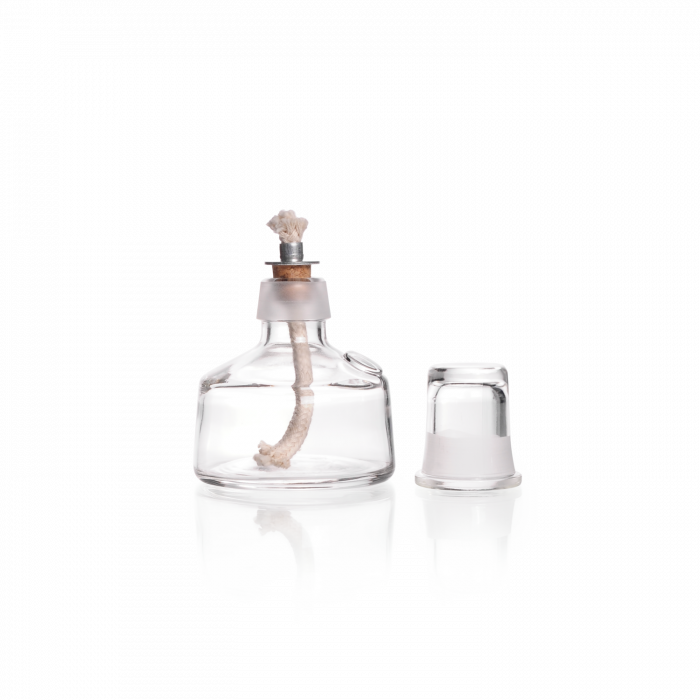 Spirit Lamp from Soda-lime Glass, with socket and wick, 100 mL