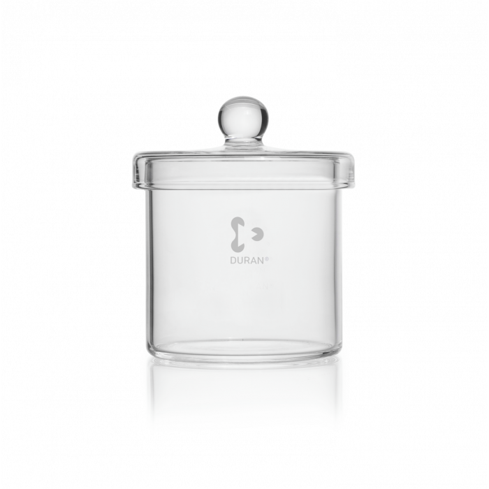 DURAN® Cylinder, with knobbed lid, Ø 100 x 100 mm