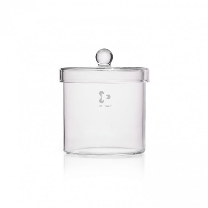 DURAN® Cylinder, with knobbed lid, Ø 120 x 120 mm