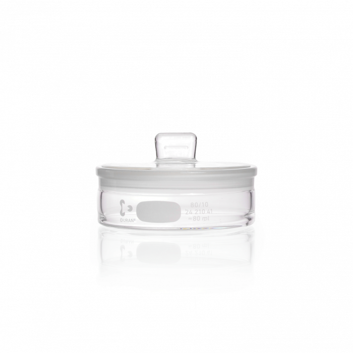 DURAN® Weighing Bottle, with ground lid, low form, 80 mL