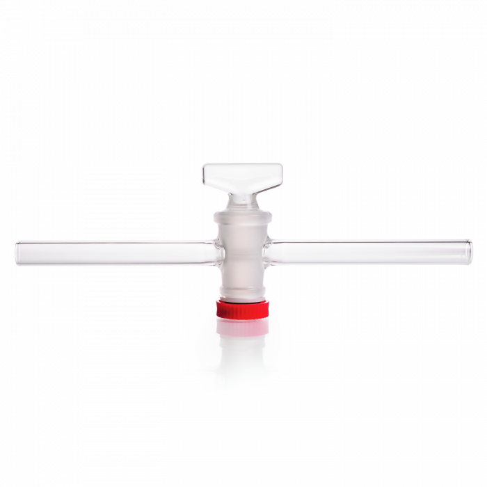 DURAN® Single-way Stopcock, with grooved DURAN® key, bore 1.5 mm, NS 10