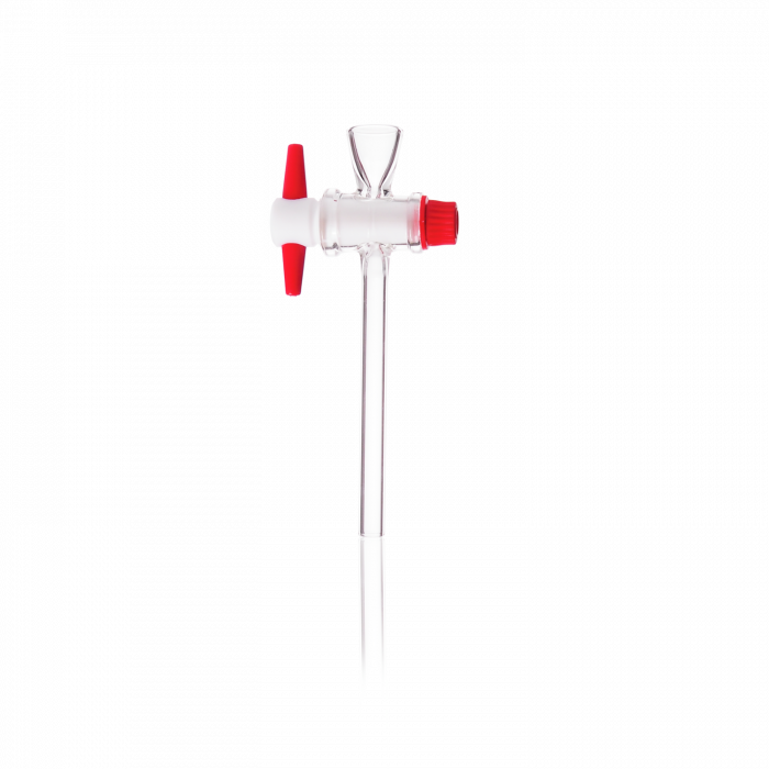DURAN® Separating Funnel Stopcock, short inlet, with PTFE key, bore 4 mm, NS 18.8