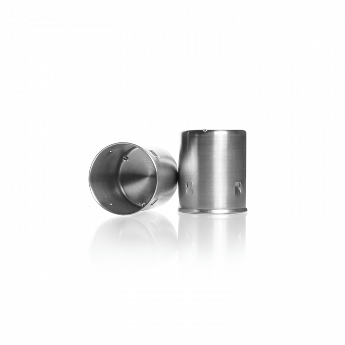 Metal Cap, for neck Ø 38 mm, stainless steel