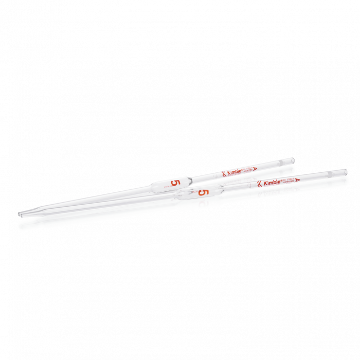 KIMBLE® KIMAX® Volumetric Pipet, Class A, TD, Batch Certified and Serialized, 5 mL