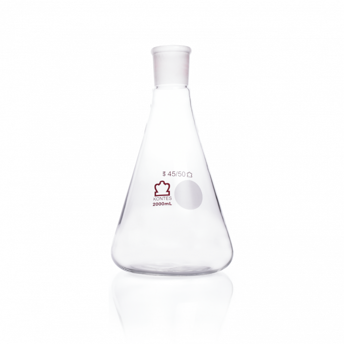 KIMBLE® KONTES® Jointed Narrow Mouth Erlenmeyer Flask, 45/50, 2000 mL