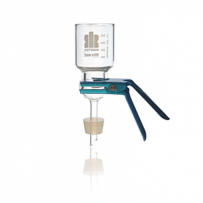KIMBLE® ULTRA-WARE® 47 mm Microfiltration Assembly With No. 8 Silicone Stopper, 300mL Funnel Capacity
