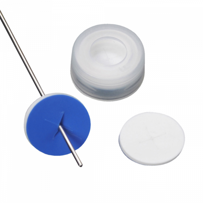 WHEATON® µL MicroLiter® 11 mm Snap Cap With Septa, Pre-Cut, PTFE / Silicone Septa, Natural, Case of 100