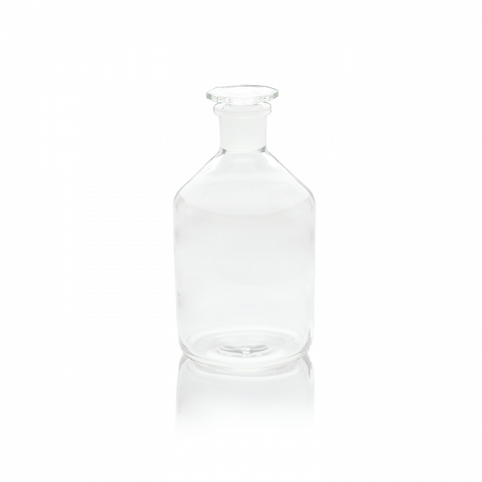 WHEATON® Narrow Mouth Ground Stopper Reagent Bottle, Clear, 1000 mL