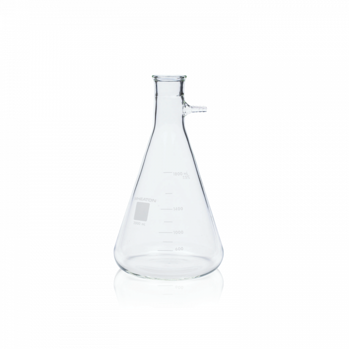 WHEATON® Filter Flask, Graduated, No. 8 Stopper Joint, 2000 mL