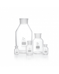 DURAN® Reagent Bottle Wide Neck Clear Neck with standard ground joint, without glass flat-headed stopper