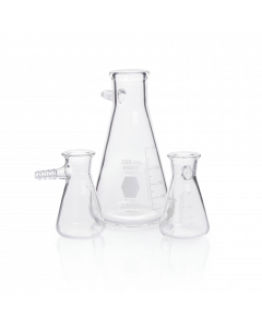 KIMBLE® KIMAX® Erlenmeyer Flask, Glass Side Arm