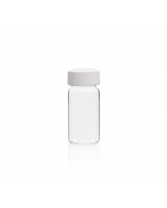 KIMBLE® 20 mL Glass Scintillation Vial With Attached Cap, 24-400 GPI Finish