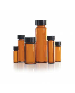 WHEATON® LAB FILE® Sample Vials Amber, With Caps Attached
