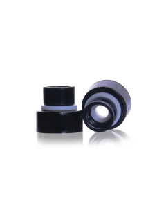 WHEATON® THE WHEATON CONNECTION® Screw Thread Connector With Black Phenolic Cap