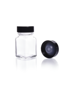 KIMBLE® Clear Glass Square Tablet Bottles