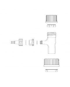 WHEATON® 47mm Filtration Assembly With GL45 Thread Connection and Filtration Assembly