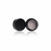 KIMBLE® Black Phenolic Caps with Cemented-In Rubber Liner, 13mm-33mm