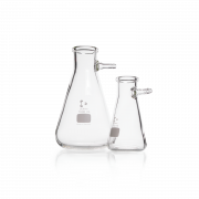 DURAN® Filtering Flask, with glass hose connection, Erlenmeyer shape, 2000 mL