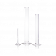 DURAN® Measuring Cylinder Blank, tall form, with spout and hexagonal base, suitable for DIN EN ISO 4788, 5 mL