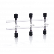 KIMBLE® KONTES® Double Vacuum and Gas Manifold, With PTFE Valves, 600 mm, 5 Places