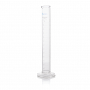 KIMBLE® KimCote® Graduated Cylinder, Class A, TD, with Reverse Graduations and Bumper, 2000 mL