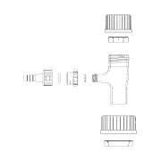 WHEATON® 47mm and 90mm Filtration Adapter Assembly, For Connection Filtration Assemblies to GL45 Bottle