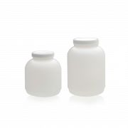 WHEATON® HDPE Wide Mouth Round Bottle