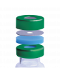 """WHEATON® µL MicroLiter® 20 mm Crimp Seal With Septa, AlumiTin™ Small Opening, Natural PTFE / Blue Silicone, 0.125"""""""