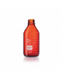 DURAN® protect GL 45 Laboratory Bottle, amber, plastic safety coated, without screw cap and pouring ring, 2000 mL