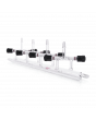 KIMBLE® KONTES® Double Vacuum and Gas Manifold, With PTFE Valves at 45° Angle, 500 mm