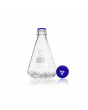 DURAN® Baffled Flask, GL 45, with membrane screw cap and pouring ring, 1000 mL