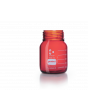 DURAN® Laboratory Bottle Wide Mouth GLS 80®, Protect coated Amber, Supplied as bottle only, no cap, 500 mL