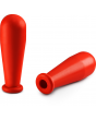 DWK Rubber pipette bulb, natural rubber, Red, Volume 2ml, Hole ø 5mm