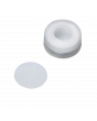 WHEATON® µL MicroLiter® 11 mm Snap Cap With Septa, PTFE Disk Septa, Natural, Case of 100